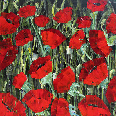 Painting - Poppies Galore by Diane Dean