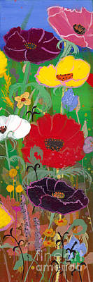 Painting - Poppies II by Robin Maria Pedrero