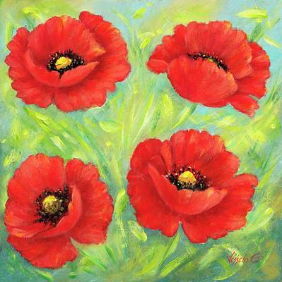 Painting - Poppies  II by Vessela Kolibarova