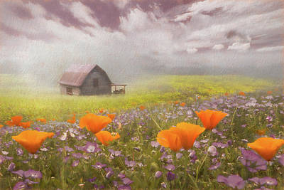 Photograph - Poppies In A Dream Watercolor Painting by Debra and Dave Vanderlaan