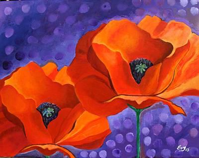 Georgia Okeefe Painting - Poppies In Bloom by Evisabel Fabrega