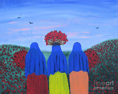Chicano Art Mixed Media - Poppies In Bloom by Sonia Flores Ruiz