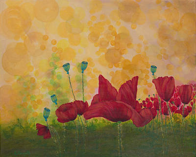 Spectral Painting - Poppies In Bokeh by Karen Forsyth