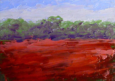 Painting - Poppies In Field by Fred Wilson
