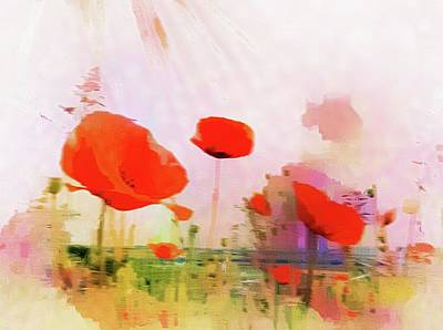 Digital Art - Poppies In Impression by Dorothy Berry-Lound