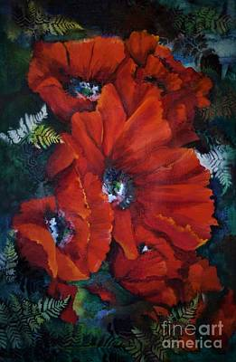 Painting - Poppies In Light IIi by Pamela Shearer