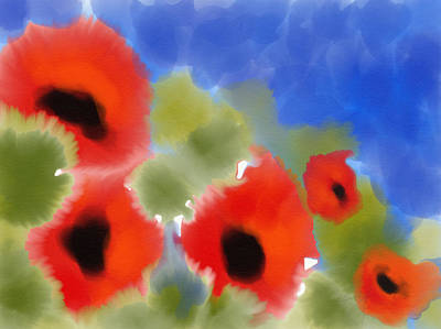 Digital Art - Poppies In My Garden by Cristina Stefan