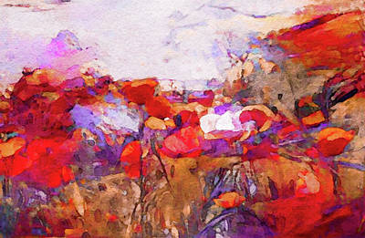 Painting - Poppies In The Valley by Susan Maxwell Schmidt