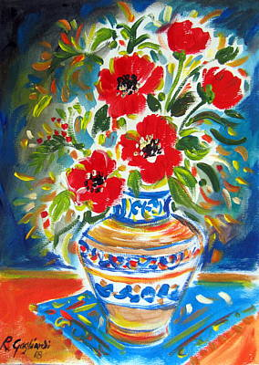 Painting - Poppies In Vase by Roberto Gagliardi
