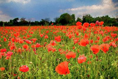 Photograph - Poppies In Watercolor by Leah Palmer