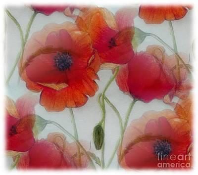 Poppies Art Print by Jamie Silker