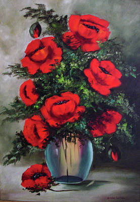 Painting - Poppies by Jeanine Dahlquist