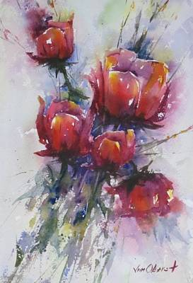Oberst Painting - Poppies by Jim Oberst