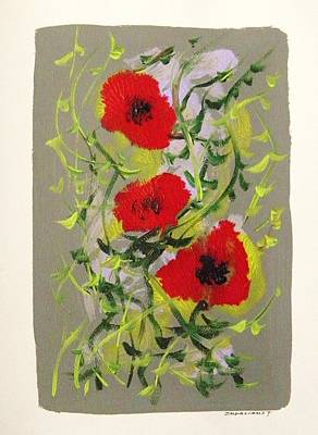 Painting - Poppies by John Williams