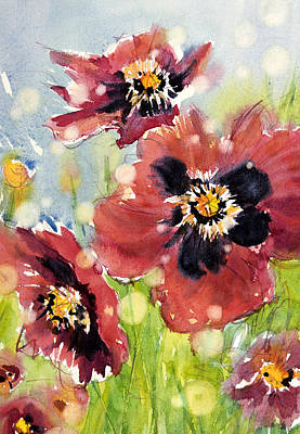 Poppies Art Print by Judith Levins