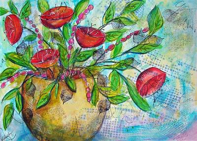 Painting - Poppies by Karin Husty