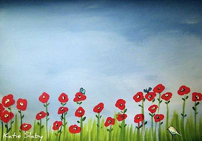 Lasy Painting - Poppies by Katie Slaby