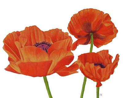 Wall Art - Painting - Poppies by Kristina Spitzner