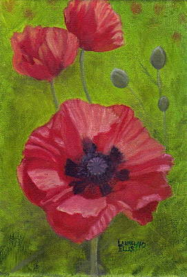 Poppies Art Print by Laurel Ellis