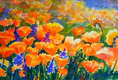 Poppies Like Hansen Art Print by Therese Fowler-Bailey