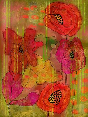 Digital Art - Poppies by Lisa Noneman