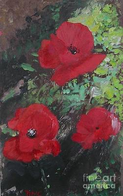 Poppies  Art Print by Lizzy Forrester