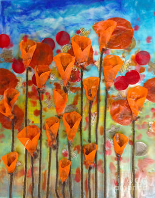 Poppies Make Me Happy Art Print