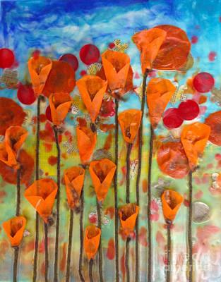 Poppies Make Me Happy Art Print