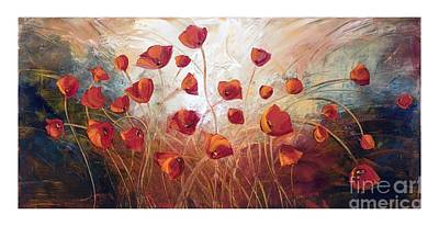 Painting - Poppies by Marcella Rose