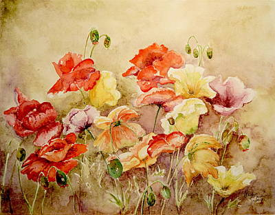 Painting - Poppies by Marilyn Zalatan