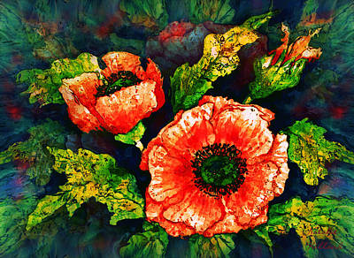 Nature Center Mixed Media - Poppies by Natalie Holland