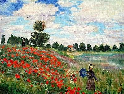Poppies Near Argenteuil Art Print by Peter Kupcik