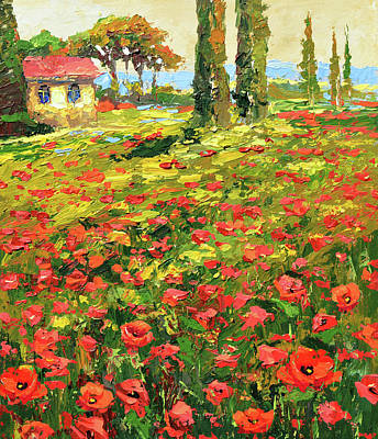 Painting - Poppies Near The Village by Dmitry Spiros