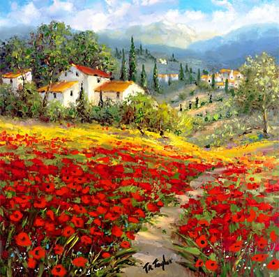 Painting - Poppies Of France. by Ralph Taylor