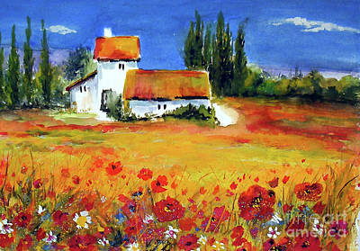 Painting - Poppies Of Provence by Sibby S
