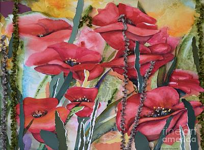 Painting - Poppies  by Pamela Shearer