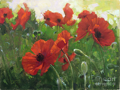 Wall Art - Painting - Poppies by Patrick Saunders