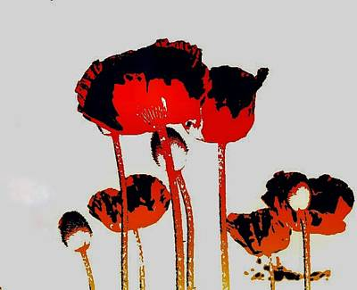 Digital Art - Poppies Pop by Anne Sands