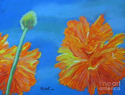 Pastel - Poppies  by Rae  Smith PAC