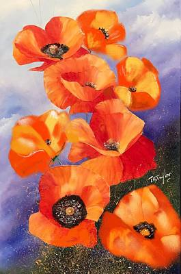 Painting - Poppies by Ralph Taylor