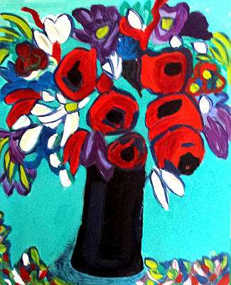 Painting - Poppies Red by Nikki Dalton