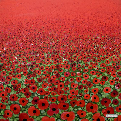 Painting - Poppies - Remembrance Blast by Jacqueline Hammond