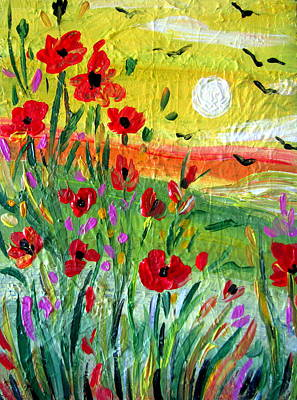 Painting - Poppies by Roberto Gagliardi