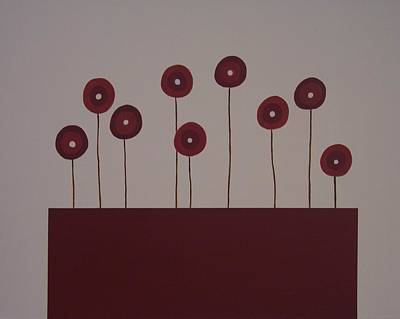 Poppies Art Print by Sandy Bostelman