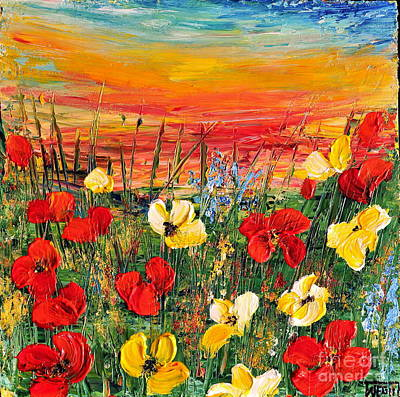 Poppies Art Print by Teresa Wegrzyn