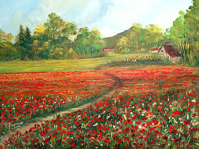Painting - Poppies Time by Dorothy Maier