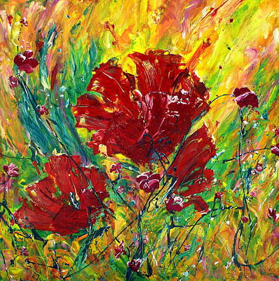 Painting - Poppies by Tracy Bonin