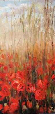 Impresionist Painting - Poppies by Vali Irina Ciobanu