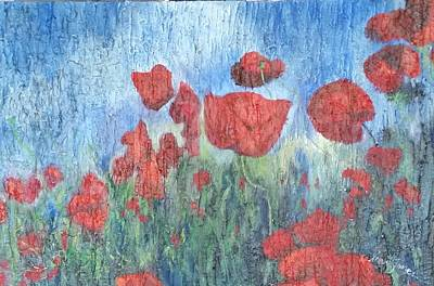 Recently Added Painting - Poppies With Texture by Steve Jones