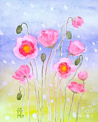 Painting - Poppies  by Wonju Hulse